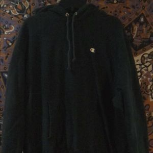 Basic black champion hoddie
